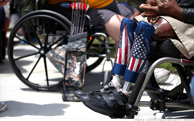 Paralyzed veterans seated in their wheelchairs