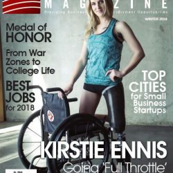 Kirstie Ennis cover of U.S. Veterans Magazine