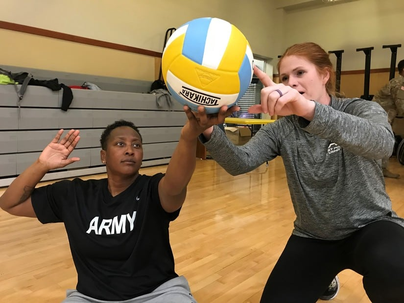 army veteran coaching volleyball