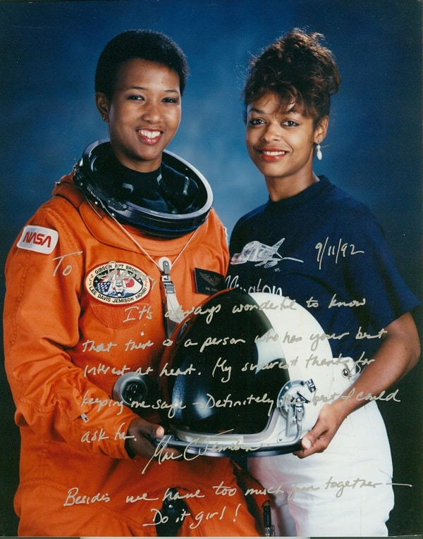 Sharon McDougle with Mae Jamison