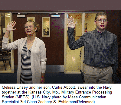 Mother and Son Join Navy
