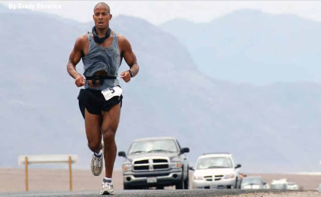 David Goggins running in triathalon