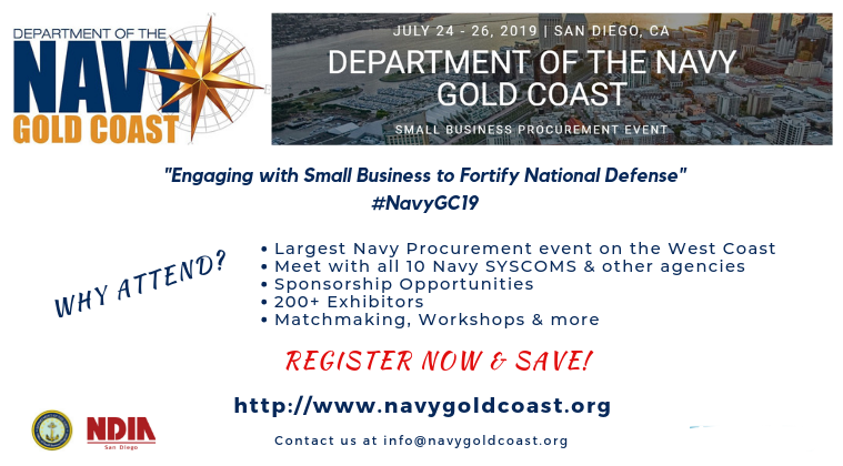 Navy Gold Coast Procurement Event Flyer