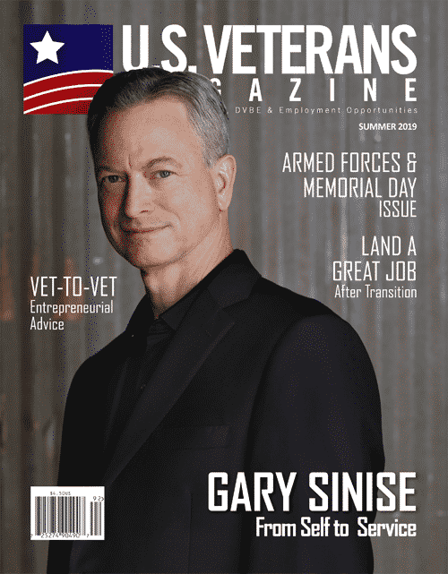 Gary Sinise Cover of U.S. Veterans Magazine