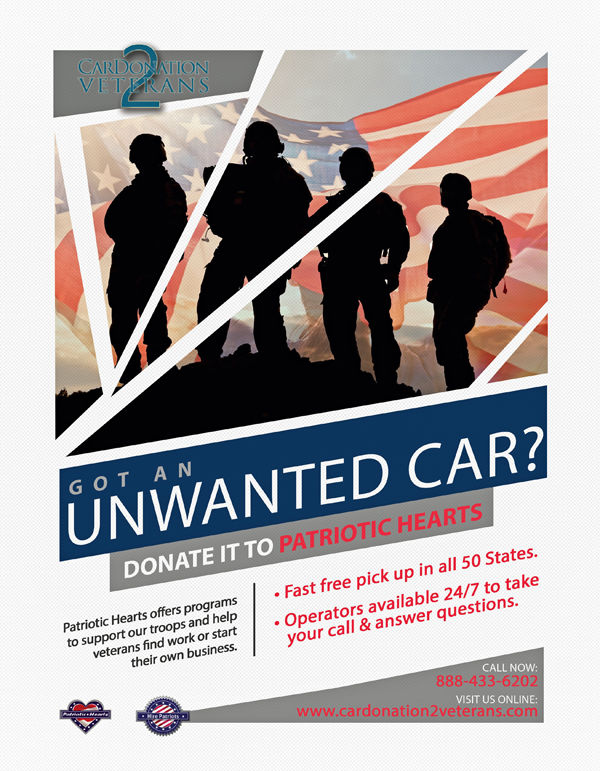 Patriotic Hearts asking if you have a car you want to donate