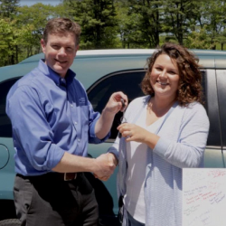 1A Auto owner hands over keys to car