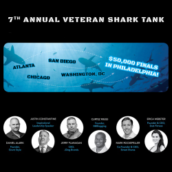Shark Tank Veterans poster with image of judges for the competition