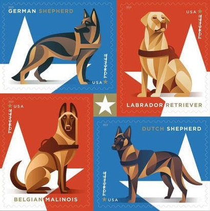 military working dogs stamps
