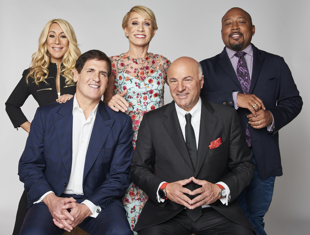 Shark Tank panel seated together