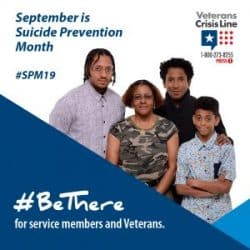 VA poster #BeThere for suicide prevention month