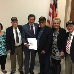 Garamendi meets with WWII Merchant Marine Veterans and family members of deceased veterans in Washington, DC
