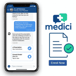 App for Medical advice pictured on phone