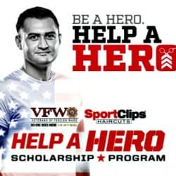 Sport Clips Help-A-Hero campaign poster
