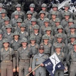 Group of U.S. Military pictured in rows wearing military uniforms
