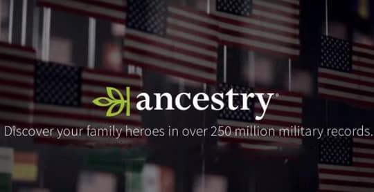 Ancestry special Veterans Day promo picture