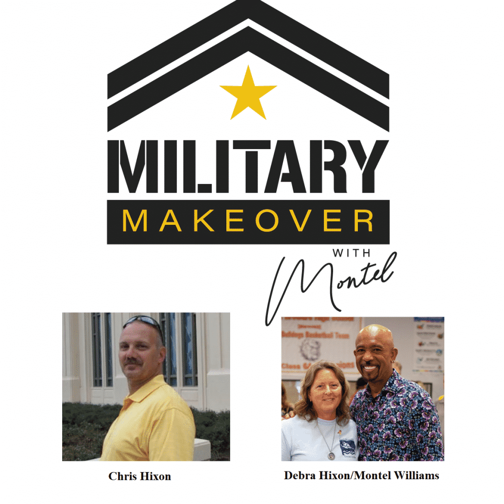Military Makeover logo Montel Williams and Chris and Debra Hixon