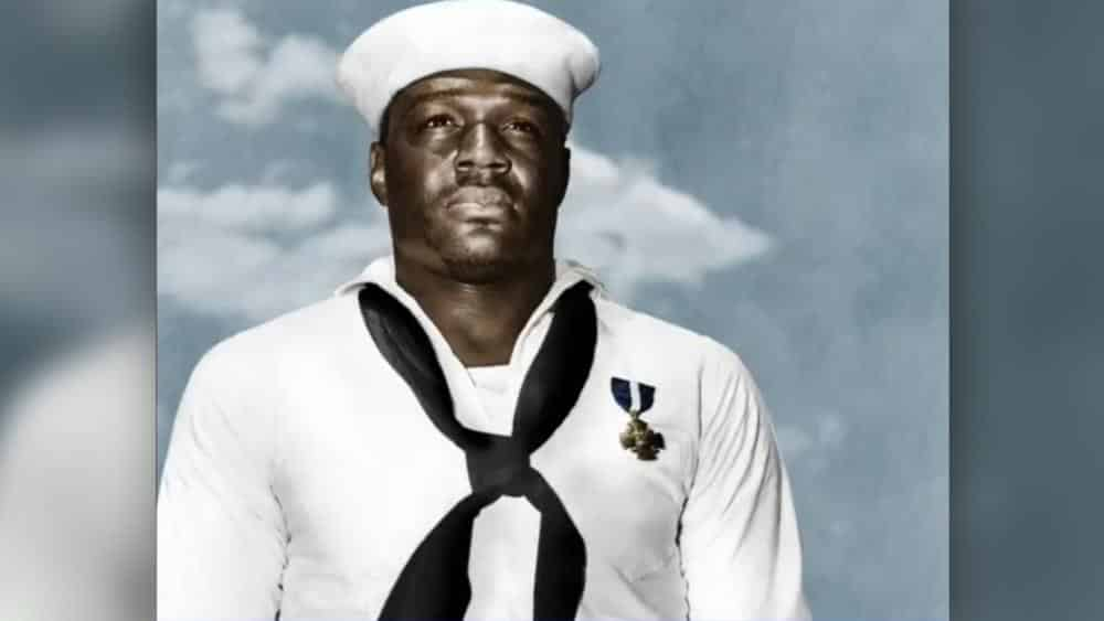 "Doris ""Dorie"" Miller pictured in his Nvy uniform"