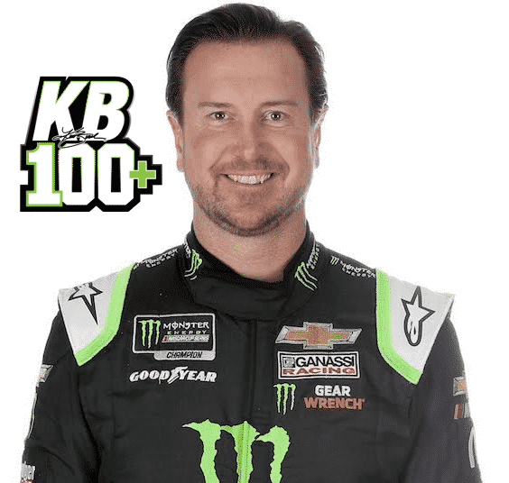 Kurt Busch pictured in NASCAR uniform smiling